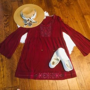 Knox Rose Burgundy Flowy Dress